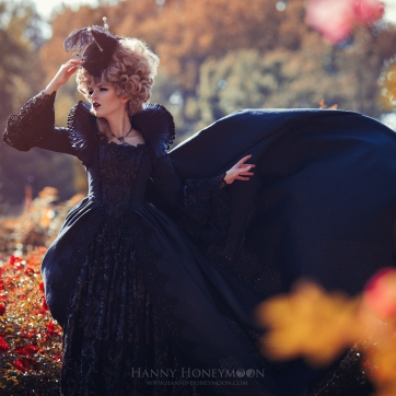 Black Marie Antoinette Dress by Jumeria Nox